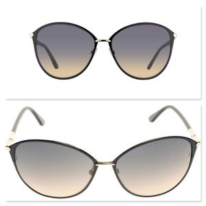 Tom Ford Accessories - New TOM FORD Black Gold Aviator Sunglasses